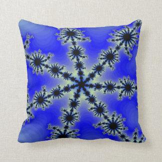 Coussin Flocon de neige bleu -