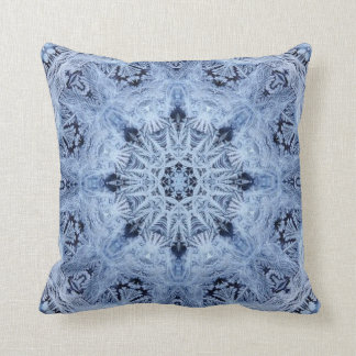 Coussin Flocon de neige bleu
