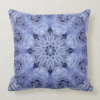 Coussin Flocon de neige de bleu de lavande