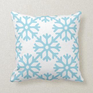 Coussin Flocons de neige bleus