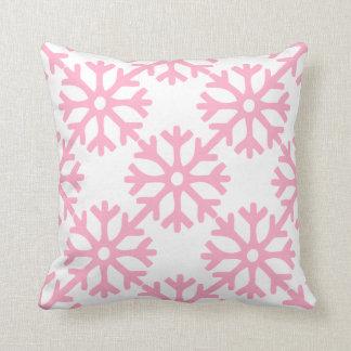 Coussin Flocons de neige roses
