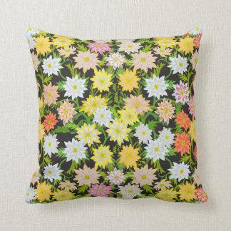 Coussin floral de jardin anglais jaune