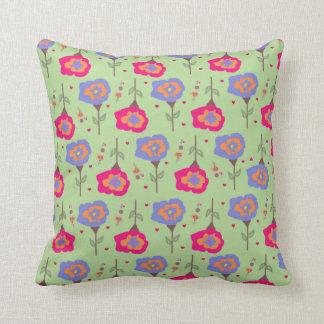 Coussin floral de motif de vert de la chambre à
