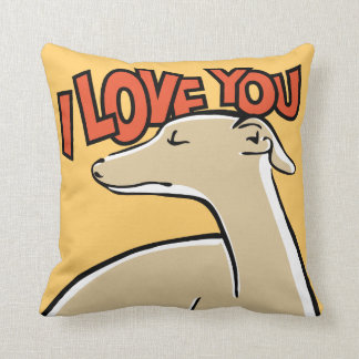 Coussin Galgo I love you