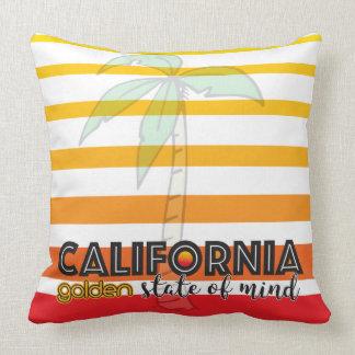 Coussin Golden State de la Californie d'esprit