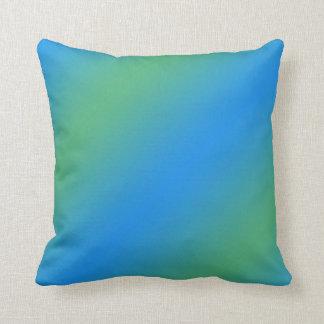 Coussin Gradient bleu et vert