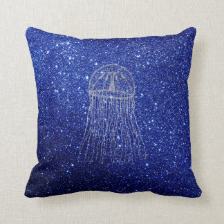 Coussin Gris argenté de marine de bleu d'océan de vie