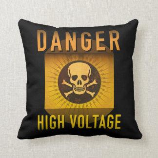 Coussin Grunge à haute tension d'ère atomique de danger