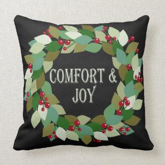 Coussin Guirlande de vacances de confort et de joie |