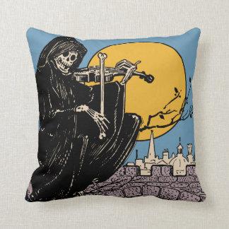 Coussin Halloween vintage/jour du squelette mort
