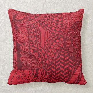 Coussin Hanche art déco de rouge rétro de cool abstrait
