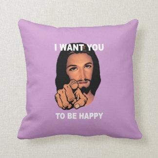 Coussin heureux de Jésus