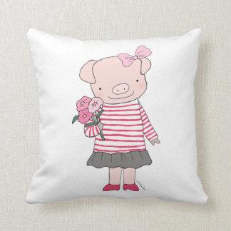 Coussin heureux de porc de carreau mignon de porc