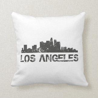 Coussin Horizon de paysage urbain de Los Angeles