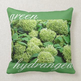 Coussin Hortensia vert