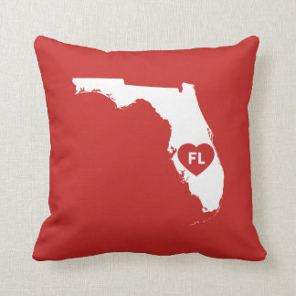 Coussin J'aime le carreau d'état de la Floride