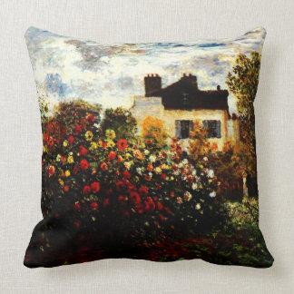 Coussin Jardin de Claude Monet-Monet à Argenteuil