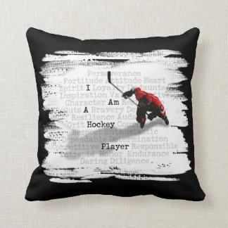 Coussin Je suis un joueur de hockey
