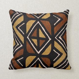 Coussin kenyan du motif #2 de tissu de boue