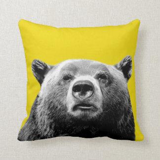 Coussin La crèche animale de photo de région boisée d'ours