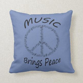 Coussin La musique apportent le carreau de paix