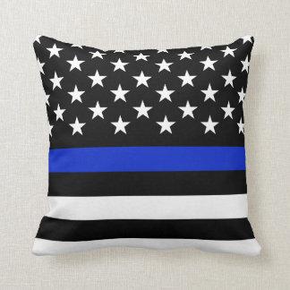 Coussin La police a dénommé le drapeau américain large