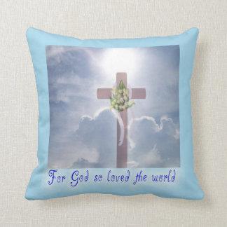 Coussin La promesse, la croix et les nuages de Pâques