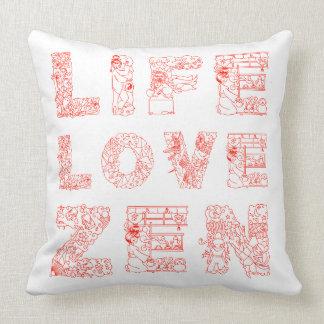 Coussin La vie, amour, zen