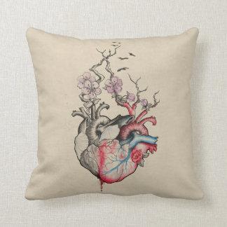 Coussin L'art d'amour a fusionné les coeurs anatomiques