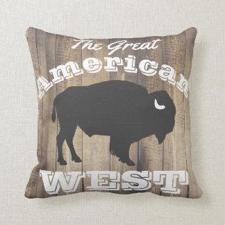 Coussin Lauriers blancs en bois de bison occidental