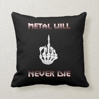 Coussin Le métal ne mourra jamais