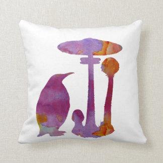 Coussin Le pingouin et le champignon