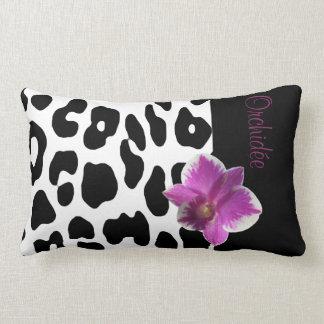Coussin Léopard/Orchidée