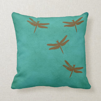 Coussin Les libellules et la sarcelle d'hiver ont coloré