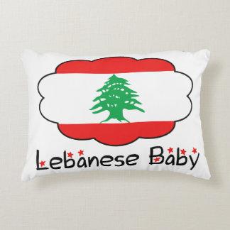 Coussin libanais de drapeau pour le bébé