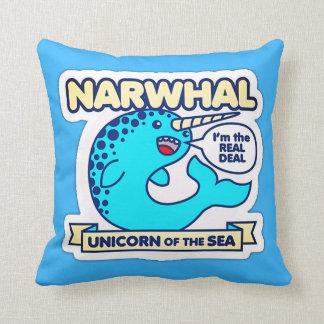 Coussin Licorne de Narwhal de la mer
