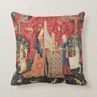 COUSSIN LICORNE ET DAME PLAYING ORGAN WITH ANIMALS