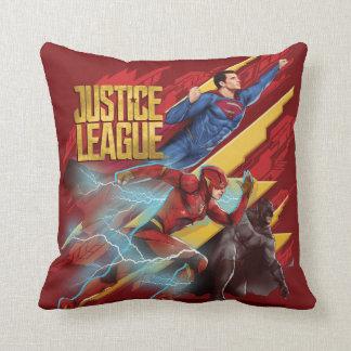 Coussin Ligue de justice | Superman, éclair, et insigne de