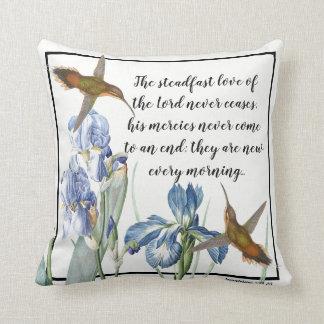 Coussin L'iris de colibris fleurit le carreau d'amour de