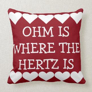 Coussin L'ohm est où Hertz est