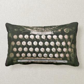 Coussin lombaire de machine à écrire vintage faite