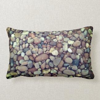 Coussin lombaire de photo de cailloux de pierres
