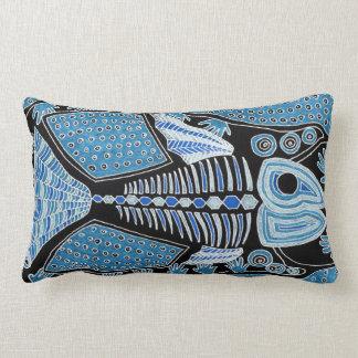 Coussin lombaire de poissons bleus