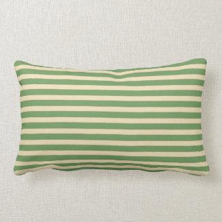 Coussin Rectangle Coussin lombaire d'intérieur de rayure crème verte