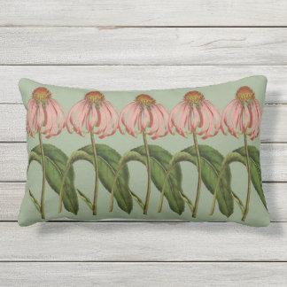 Coussin lombaire extérieur botanique rose de