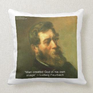 Coussin Ludwig Feurbach et coton athée ThrowPillow de