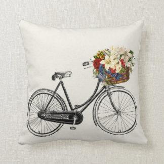 Coussin Lumière outre de carreau de fleur de bicyclette de