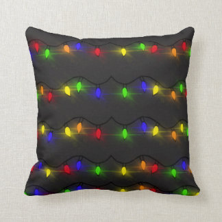 Coussin Lumières de Noël de scintillement