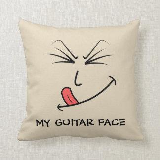 Coussin Ma musique de visage de guitare