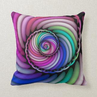 Coussin Magasin en spirale de sucrerie de fractale